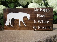 Horse Sign, Horse Gift, Equine Sign, Equestrian Sign, Horse Lover Gift, Equestrian Gift, Equine Decor, Western Pleasure, Horseback Riding by LouLouandBonBon on Etsy