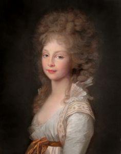 Royals in Art Sitter: Frederica of Mecklenburg-Strelitz, future Queen of Hanover Artist: Johann Friedrich August Tischbien Date: 1796