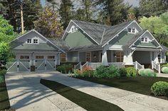 Craftsman Style House Plan - 3 Beds 2.00 Baths 1879 Sq/Ft Plan #120-187 Exterior - Front Elevation - Houseplans.com