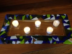 Fused Glass, Tea Lights, Candles, Tea Light Candles, Candy, Candle Sticks, Candle