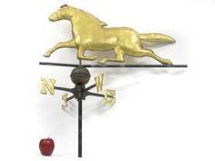 United 3d Running Horse Functional Weathervane Aged Copper Patina Finish Full Bodied Complete Range Of Articles Weathervanes & Lightning Rods Architectural & Garden