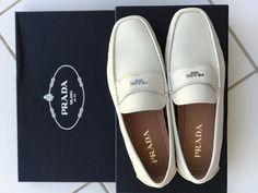 345c2916c5bf41 Details about PRADA Mens Shoes US 13 Prada 12 Black Leather Loafer Moccasin  Slip-On