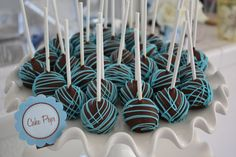 blue garlands baby shower - Google Search