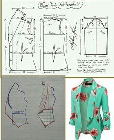 Sensational Tips Sewing Pattern Ideas. Brilliantly Tips Sewing Pattern Ideas. Coat Patterns, Dress Sewing Patterns, Clothing Patterns, Crochet Patterns, Fashion Sewing, Diy Fashion, Ideias Fashion, Blazer Pattern, Jacket Pattern