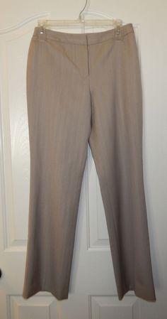 Ann Taylor Tan Wool Dress Pants Size 2P Lined Career #AnnTaylor #DressPants