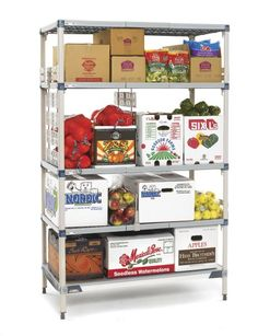 MetroMax Q is an advanced polymer and epoxy coated steel design offering quick-to-adjust shelf levers, polymer shelf mats and a 15 year warranty for corrosion resistance. Room Shelves, Storage Room, Locker Storage, Stainless Kitchen, Epoxy Coating, Shelving Systems, Corner Shelf, Home Safety, Wire Shelving