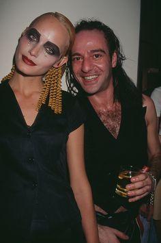 Amber Valletta, and John Galliano, at the Galliano fashion show, circa 1995.