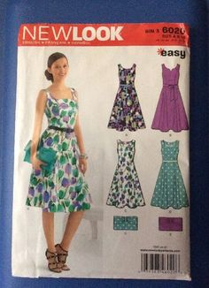 New Vintage Simplicity New Look Pattern 6020 Size 6,8,10,12 Misses Easy Dress  | eBay