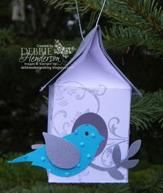 12 Days of Christmas Ornaments Day 6. Stampin' Up! products by Debbie Henderson, Debbie's Designs.