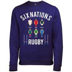 SIX NATIONS RUGBY TOURNAMENT MENS SPORTS COMPETITION SWEATSHIRT JUMPER – Batch1