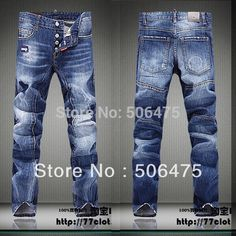 Find More Jeans Information about Special 2015 Fashion Men's Jeans Casual Popular DSQ Brands cozy Straight High Quality skinny denim Men's jeans Free shipping,High Quality jean denim,China jeans sp Suppliers, Cheap jeans chinese from H&T  --  HOT AND TOP JEAN on Aliexpress.com