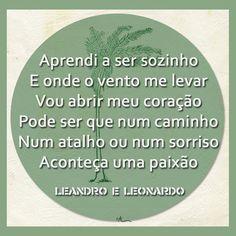 Um sonhador, Leandro e Leonardo Leandro E Leonardo, Chart, Words, Life