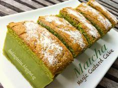 Baking Taitai: 抹茶魔术卡士达蛋糕 Matcha Magic Custard Cake (中英食谱)