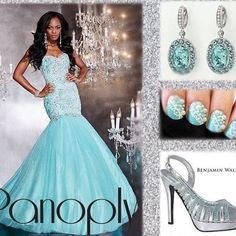 ✨ a little sparkle never hurt ✨ @panoplydesigns #prom #pageant #nails #heels #bling