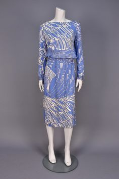 LOT 825 PUCCI PRINTED SILK JERSEY DAY DRESS, 1970s - whitakerauction