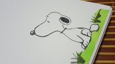 Simple drawing of Snoopy