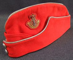 British; Leicestershire & Derbyshire, Prince Albert's Own Yeomanry , Officer's Folding Field Service Cap, Post WW II