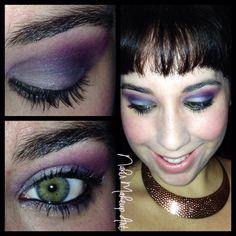 """Hoy os presento un maquillaje que yo lo he titulado """"Noches en Arabia"""" Se trata de un maquillaje realizado en tres colores! Azul bebe, lila oscuro y violeta tirando casi a magenta! Que decir de este maquillaje, a mi me encanta. La eleccion del labial sigue siendo en tono nude para no restarle nada de protagonismo al ojo. Espero q os guste! #makeup #makeupartist #maquillaje #belleza #estetica"""