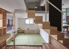 Apartment by Hao Design has house-shaped doors