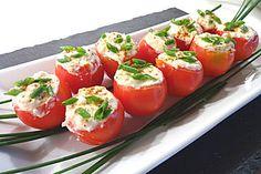 Gefüllte Tomaten mit Schafskäse - Creme