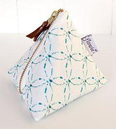 Kate Canvas Triangle Zipper Pouch