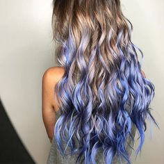 Periwinkle Mermaid  by @kasey.hair Love this color Kasey! #hotonbeauty . . . . #periwinklehair #hairpainting #hairpaintingeducation #longhairstyle #bluehair
