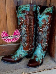 Teal Love Me Lane boots - #CowgirlChic