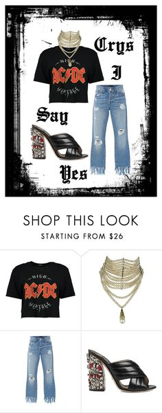 """""""rock and me"""" by crystelpi on Polyvore featuring mode, Boohoo, Christian Dior, 3x1 et Gucci"""
