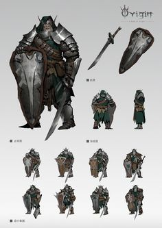 《Origin》系列原创概念设定[暗日灵族篇] | 加糖薄荷糖 - 原创作品 - 涂鸦王国 2d Character, Character Concept, Concept Art, Character Design, Larp Armor, Knight Armor, Fantasy Warrior, Face Characters, Fantasy Characters