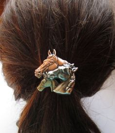Hey, I found this really awesome Etsy listing at https://www.etsy.com/listing/111718140/horse-family-ponytail-holder