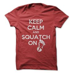 >> Click to Buy << EnjoytheSpirit Men's Printed T-shirt Short Sleeve Male Clothing KEEP CALM AND SQUATCH ON Simple Cool Tops for Men Plus Size #Affiliate