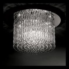 Light - Satin Chrome Ceiling Light Fitting With Crystal Drops Ceiling Light Fittings, Chandelier Lighting, Crystal Chandeliers, Glass Ceiling Lights, Crystal Drop, Chrome, Pendants, Crystals, Beautiful
