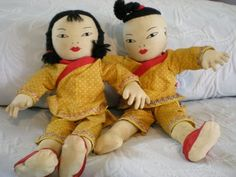 Asia with Embroidered Eyes: Small Chinese Cloth Dolls