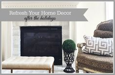 Some easy ways to refresh your decor after the holidays to beat the winter blues!