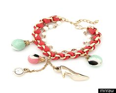 Shoe charm bracelet