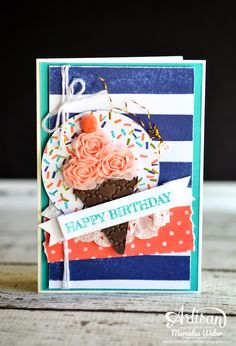 Stampin Up Artisan Blog Hop- Ice Cream Treat | Creations by Mercedes