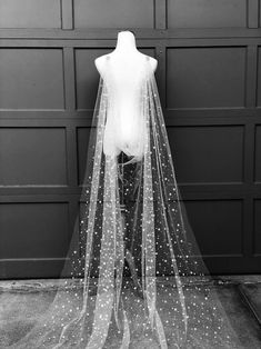 Gold Star Celestial Draped Wedding Cape Veil, Bridal Cape with Beaded Pins Chapel Length Long Veil Soft Cover-up Scarf Wrap, Starry Night - Modern Edge Wedding Cape Veil, Bridal Cape, Wedding Veils, Wedding Dresses, Wedding Hair, Bridal Headpieces, Wedding Attire, Wedding Flowers, Galaxy Wedding