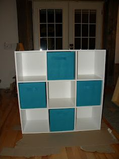 Teach*Lake*Love:   Storage for the Craft Room!.. LOVE the teal baskets!