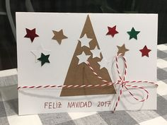 Homemade Christmas, Christmas Diy, Christmas Cards, Arts And Crafts, Scrapbooking, Gift Wrapping, Holidays, Yule, Seasons Of The Year