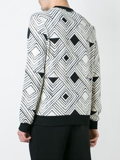 Dolce & Gabbana optical print sweatshirt