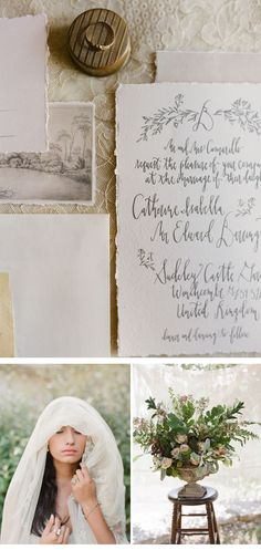 Grey Maiden Shoot, calligraphy: Signora e Mare, photo: Laura Catherine Photography
