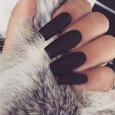 Matte nails  by dollhousedubai
