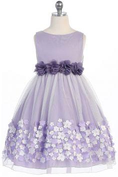 Lavender+Mesh+Flower+Girl+Dress+with+Taffeta+Flowers+KD-332-LV+on+www.GirlsDressLine.Com