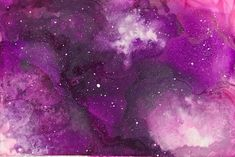 Alcohol ink - Small purple galaxy. 4x6 photo paper . . . . . #art #love #beautiful #artoftheday #abstractpainging #instaartist #originalart #artwork…