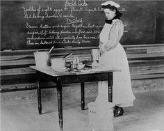 Student making a cake, Rabun Gap Industrial School, Rabun County, Georgia, 1905