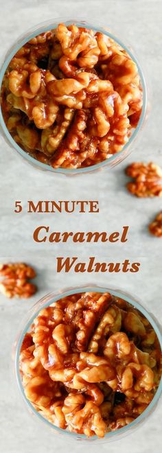 5 minute recipes | quick recipes | easy recipes | candied walnuts | caramel walnuts | holiday recipes | christmas recipes | party favors | cheeseboard | caramel popcorn | easy snack ideas | ice cream toppings