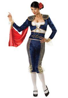 woman matador   Womens Matador Beauty Costume - Female Spanish Bull Fighter Costume ...