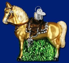 Western Horse, Glass Ornaments from Old World Christmas #westernhorse