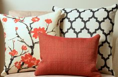 Pillows, Red Pillow, Black Pillow,  Cream Pillow, Decorative Pillow Covers, Moroccan Pillow, Floral Pillow, Basketweave, Modern, Christmas on Etsy, $148.00
