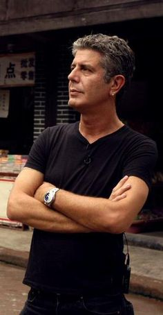Anthony Bourdain. Quite possibly the arrogant asshole he appears to be, but love him or leave him, I'm in.